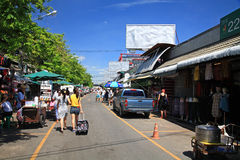 Shoppers  visit Chatuchak weekend market in Bangkok Stock Images