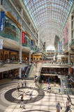 Shoppers visit Eaton Center mall in Toron Royalty Free Stock Photo