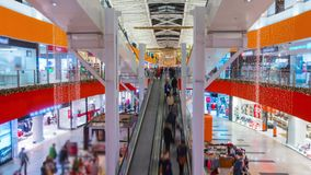 Shoppers visit the mall in VILNIUS, LITHUANIA Christmas Fair