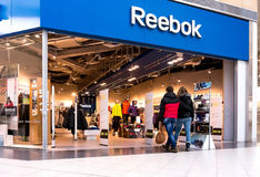 Shoppers visit Reebok Center Royalty Free Stock Photography