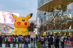 Shoppers visit Siam Paragon mall and Pokemon Festiva Royalty Free Stock Image