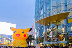 Shoppers visit Siam Paragon mall and Pokemon Festiva Stock Photo
