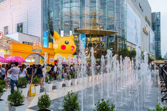 Shoppers visit Siam Paragon mall and Pokemon Festiva Royalty Free Stock Photography