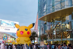 Shoppers visit Siam Paragon mall and Pokemon Festiva Royalty Free Stock Images