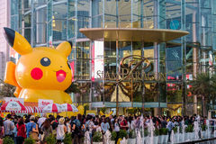 Shoppers visit Siam Paragon mall and Pokemon Festiva Royalty Free Stock Photo