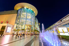 Shoppers visit Siam Paragon mall in Siam Square mall on in Bangkok, Thailand stock image