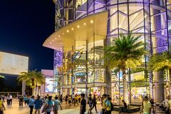 Shoppers visit Siam Paragon mall in Siam Square mall on in Bangkok, Thailand royalty free stock photos