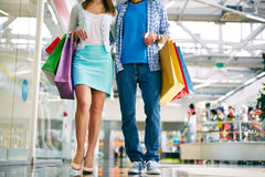 Shoppers walking Royalty Free Stock Image