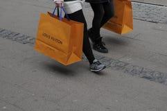 SHOPPERW Z LOUIS VUITTON torba na zakupy Obrazy Stock