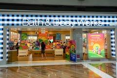 Shoppes bei Marina Bay Sands Stockbild