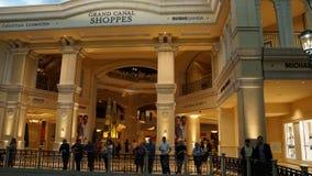 Shoppes di Grand Canal al casinò veneziano dell'hotel di località di soggiorno a Las Vegas Fotografie Stock Libere da Diritti