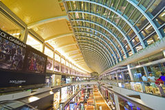 THE SHOPPES at Marina Bay Sands. Is one of Singapore's largest luxury shopping malls. Developed by Las Vegas Sands (LVS), it is the world's most expensive Royalty Free Stock Images