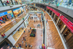 Shoppes in Marina Bay Sands in Singapore Stock Foto