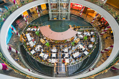 Shoppes in Marina Bay Sands in Singapore Stock Afbeelding