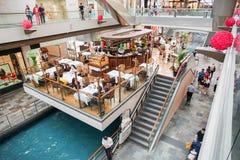 The Shoppes at Marina Bay Sands. MARINA BAY, SINGAPORE - JAN 20, 2017: The Shoppes at Marina Bay Sands is a famous shopping center of Singapore travel Royalty Free Stock Images