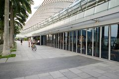 The Shoppes at Marina Bay Sands. SINGAPORE - NOVEMBER 08, 2015: exterior of The Shoppes at Marina Bay Sands. The Shoppes at Marina Bay Sands is one of Singapore Stock Photography