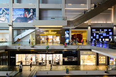 Shoppes at Marina Bay Sands. SINGAPORE - NOVEMBER 07, 2015: interior of The Shoppes at Marina Bay Sands. The Shoppes at Marina Bay Sands is one of Singapore's Stock Photos