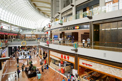 The Shoppes at Marina Bay Sands. SINGAPORE - NOVEMBER 08, 2015: interior of The Shoppes at Marina Bay Sands. The Shoppes at Marina Bay Sands is one of Singapore' Royalty Free Stock Photos