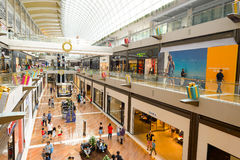 The Shoppes at Marina Bay Sands. SINGAPORE - NOVEMBER 08, 2015: interior of The Shoppes at Marina Bay Sands. The Shoppes at Marina Bay Sands is one of Singapore' Stock Images