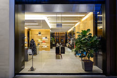Shoppes at Marina Bay Sands. SINGAPORE - NOVEMBER 08, 2015: interior of The Shoppes at Marina Bay Sands. The Shoppes at Marina Bay Sands is one of Singapore's Stock Photo