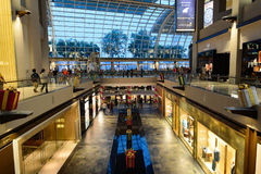Shoppes at Marina Bay Sands. SINGAPORE - NOVEMBER 08, 2015: interior of The Shoppes at Marina Bay Sands. The Shoppes at Marina Bay Sands is one of Singapore's Stock Photography