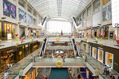 The Shoppes at Marina Bay Sands. SINGAPORE - NOVEMBER 08, 2015: interior of The Shoppes at Marina Bay Sands. The Shoppes at Marina Bay Sands is one of Singapore' Stock Photos