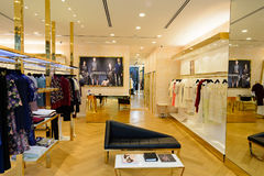 Shoppes at Marina Bay Sands. SINGAPORE - NOVEMBER 08, 2015: interior of the store in The Shoppes at Marina Bay Sands. The Shoppes at Marina Bay Sands is one of Stock Photos