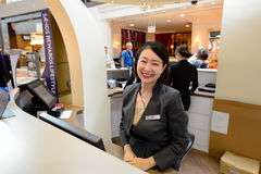 Shoppes at Marina Bay Sands. SINGAPORE - NOVEMBER 08, 2015: The Shoppes at Marina Bay Sands staff. The Shoppes at Marina Bay Sands is one of Singapore's largest Royalty Free Stock Photos