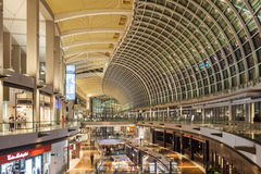 The Shoppes, Singapore. SINGAPORE - OCTOBER 16, 2014: The Shoppes at Marina Bay Sands is one of Singapore's largest luxury shopping malls, with over 800,000 Stock Photography