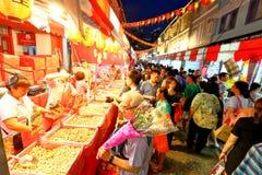 Shoppin lunar chino del Año Nuevo de Singapur Chinatown Fotos de archivo
