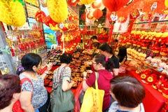 Shoppin lunar chino del Año Nuevo de Singapur Chinatown Imágenes de archivo libres de regalías