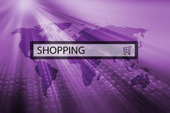 Shoppin written in search bar Stock Images