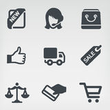 Shopping 1 icon set. Vector illustration shopping on light background Royalty Free Stock Images