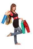 Shopping. An attractive woman with colorful shopping bags Stock Photo