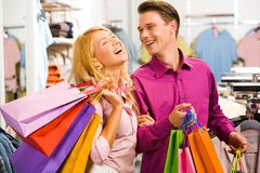 During shopping Royalty Free Stock Photo