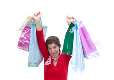 Shopping. Happy girl went back from shopping Stock Photography