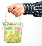 Shopping. A man having a shopping bag Royalty Free Stock Photography