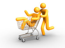 Shopping. 3d rendered image on white background: Shopping stock illustration