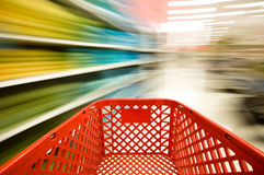 Shopping. Picture of a red shopping cart Royalty Free Stock Photos
