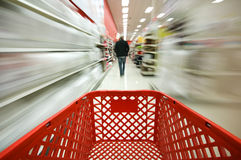Shopping. Picture of a red shopping cart Stock Image
