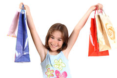 Shopping. Beautiful teenager with shopping bags Royalty Free Stock Image