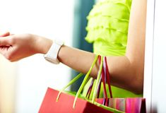After shopping Royalty Free Stock Photo
