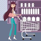Shopping. Beauty shopping at shopping mall Royalty Free Stock Photos