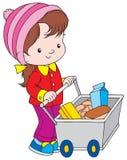 Shopping. Vector clip-art / children's illustration for yours design, postcard, album, cover, scrapbook, etc Stock Image