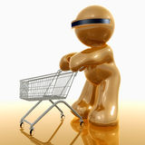Shopping 3d humanoid icon Stock Photo