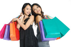 Shopping. Asia Shopping pretty woman with bags Stock Photo