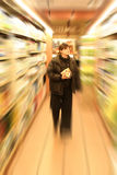 Shopping. In grocery store Stock Image