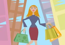 shopping royaltyfri illustrationer