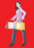 Shopping. This image is a vector illustration and can be scaled to any size without loss of resolution Stock Photography