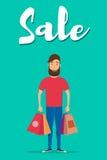 Shopping-06 royaltyfri illustrationer